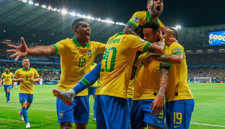 Dani Alves leads Brazil to 2-Nil victory over Messi's Argentina Team in Copa America Semi-Final